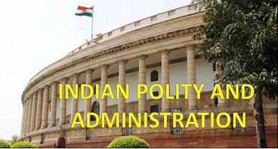 Indian polity and administration in Hindi : भारतीय राजव्यवस्था एवं प्रशासन हिन्दी में