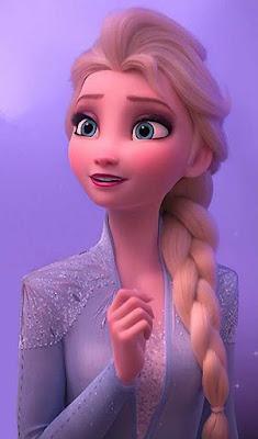 Elsa dengan wajah yang cantik