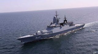 Indian Navy joined 'Iran-Russia Maritime Security Belt 2021' Naval Ex.
