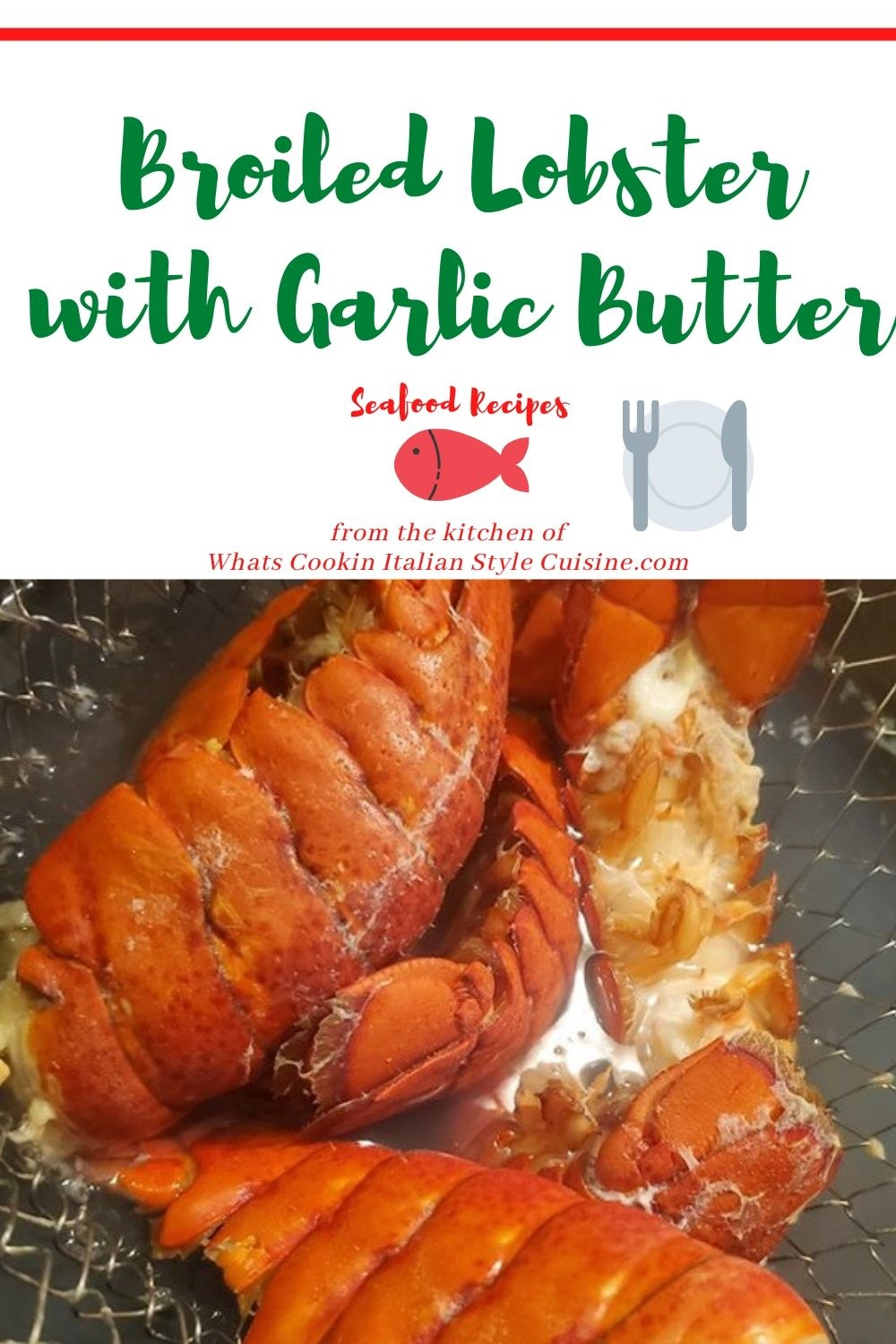 this is a pin for later recipe for how to make broiled lobster tails with garlic butter