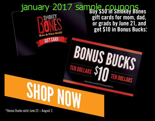 Smokey bones coupon code 2018