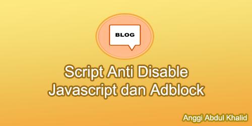 Script Anti Adblock