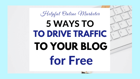 Drive traffic to your blog free
