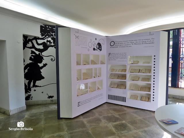 Vista de parte da exposição permanente da Biblioteca Monteiro Lobato - Vila Buarque - São Paulo