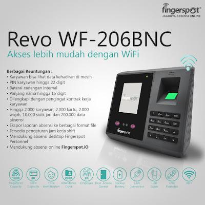 Mesin absensi wajah Jogja Revo WF-206BNC