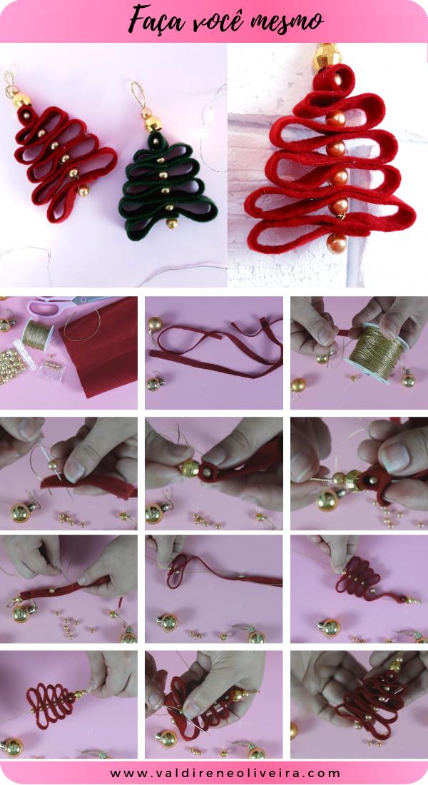 como fazer arvore de natal em feltro