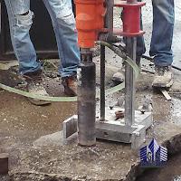 Extracción de núcleo en elemento de concreto