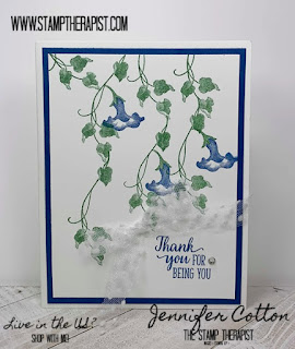 This Blueberry Bushel & Garden Green card uses Stampin' Up!'s Morning Star set (it's retiring June 3, 2020!).  Check the blog for more info and a video! #StampTherapist #StampinUp