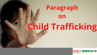 paragraph on child trafficking