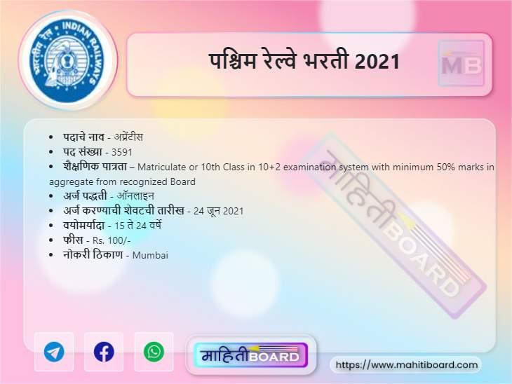Western Railway Bharti 2021