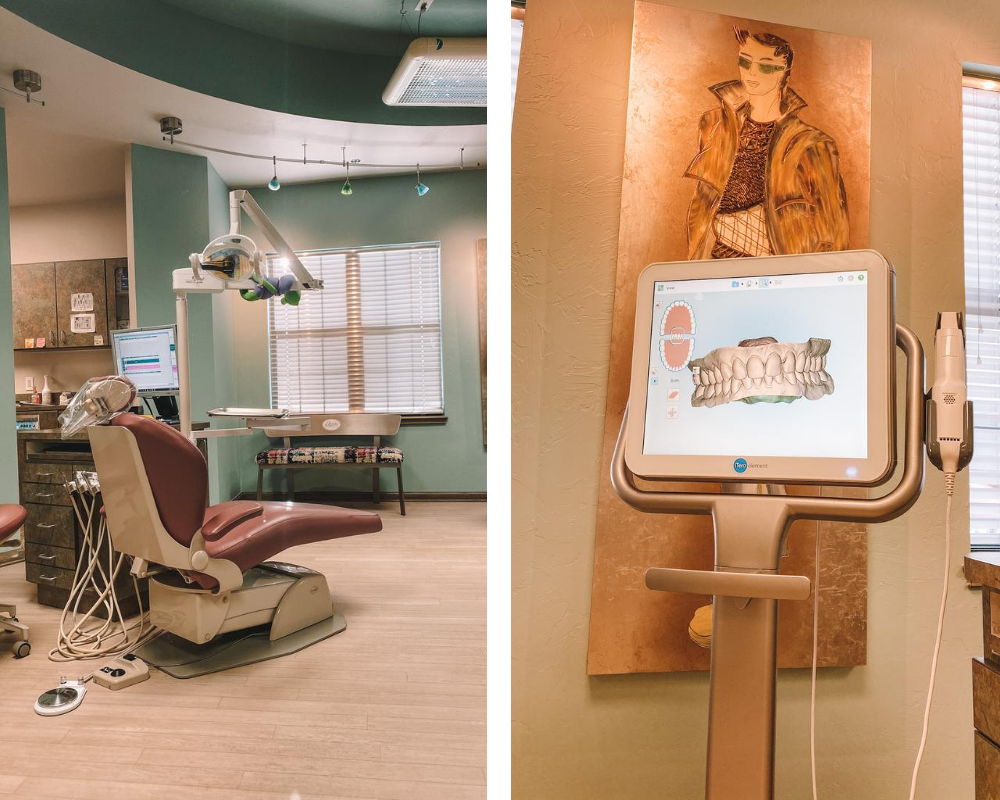 OKC blogger Amanda Martin gets her teeth scanned at the Lewis Orthodontics office in Edmond, Oklahoma