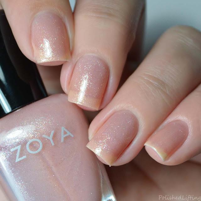 shimmery nail polish
