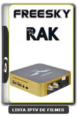 Receptor Freesky RAK Última Atualização Hoje SKS 63w ON - 02-08-2020