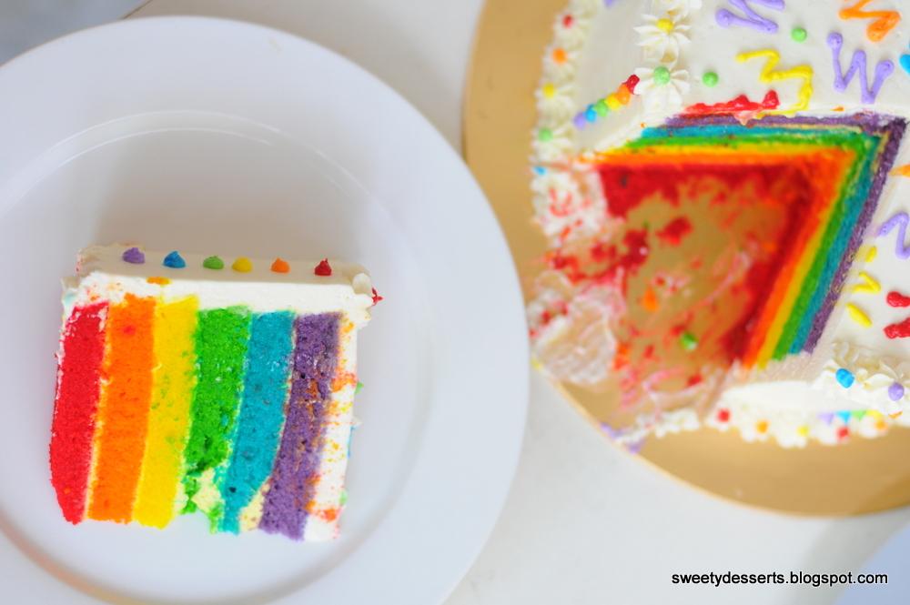 Rainbow Cake Recipe Italian: AQisH Sweety DesSerts