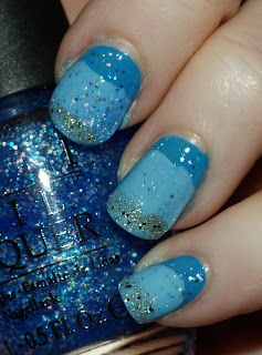 bd4ba3c065d Nicole by OPI Baby Blue over OPI Suzi Feng Says Shui with OPI Spark de  Triomphe