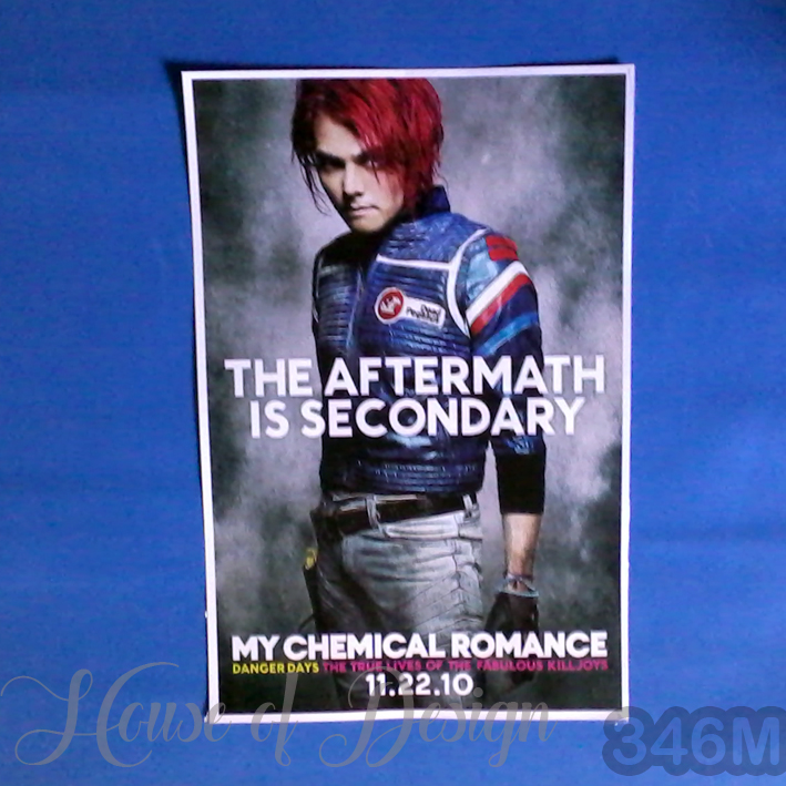 POSTER, POSTER CUSTOM, POSTER A3, POSTER A4, POSTER A5, POSTER CUSTOM SIZE, POSTER BAND, POSTER SINGER, POSTER KONSER, POSTER MY CHEMICAL ROMANCE, POSTER THE AFTERMATH IS SECONDARY