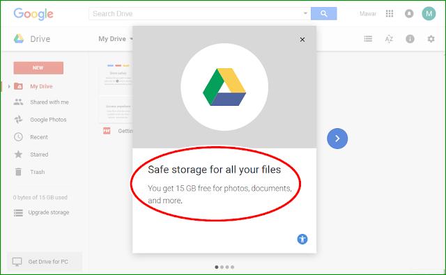 Panduan Cara Menyipan File/Arsip secara Online menggunakan Drive Google