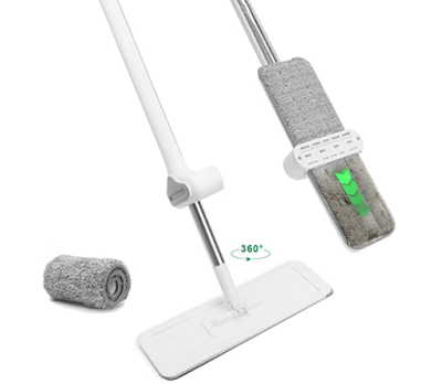 POKARI Flat Mop and Bucket Set with Rotating 360 Mop Head for Easy Floor Cleaning