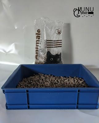 Penggunaan wood pellet kucing