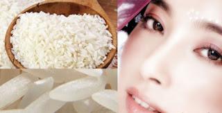 Menggunakan beras