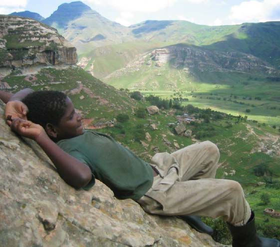 Kingdom of Lesotho name translates as the Land of the Sesotho speakers.