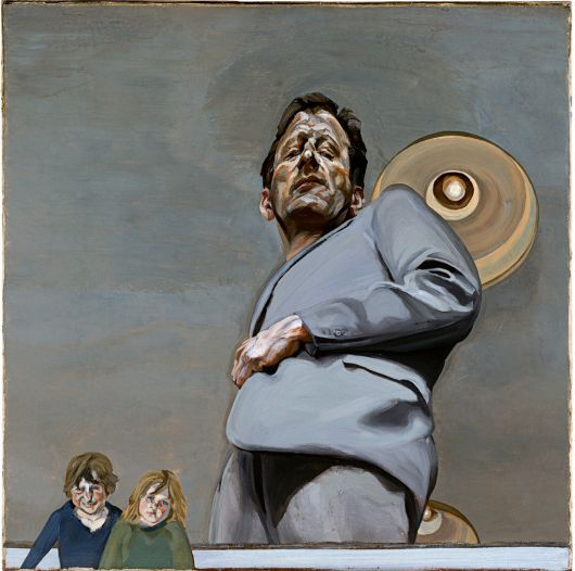 Lucian Freud's Reflection (a self-portrait) with two children