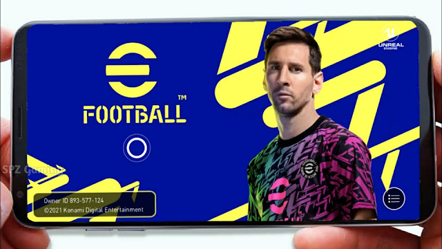 Download eFootball PES 2022 Mobile Android Best Graphics Original Menu & Full Original Logo and Kits