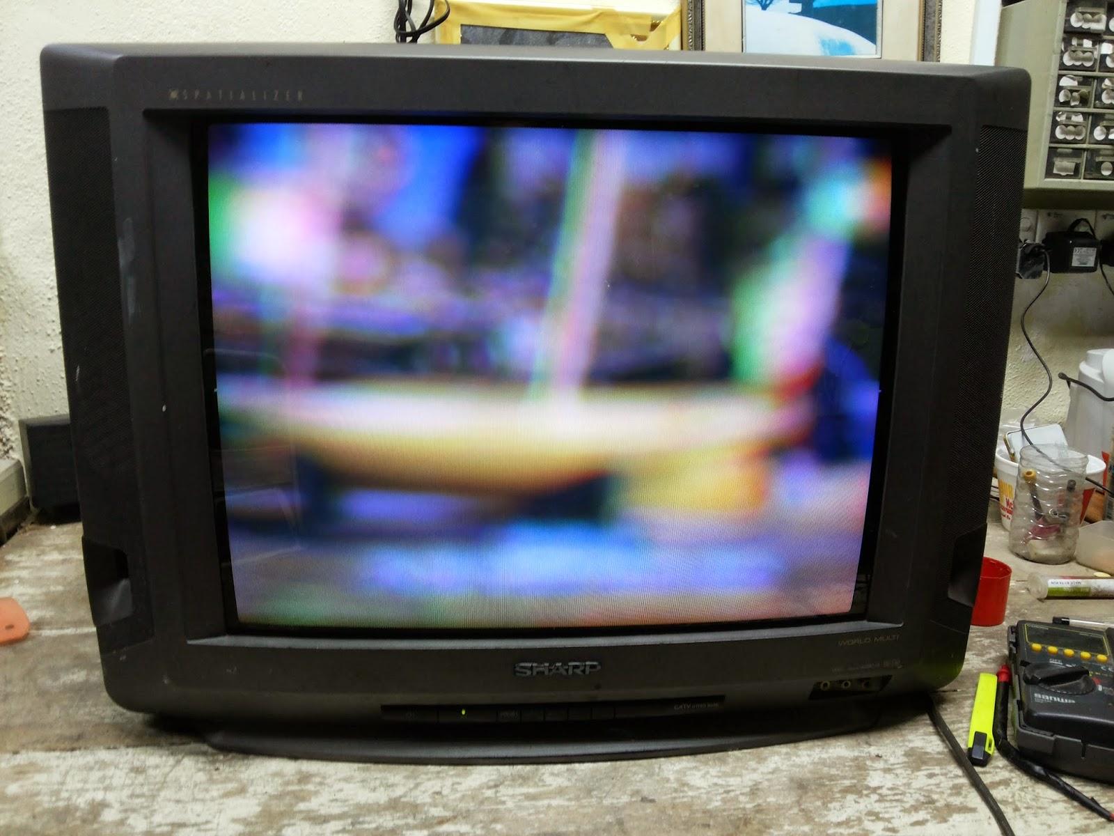 Nizam Bengkel Baiki Tv Di Kuantan Membaiki Tv Sharp Model 21jn1 Problem Gambar Kabur