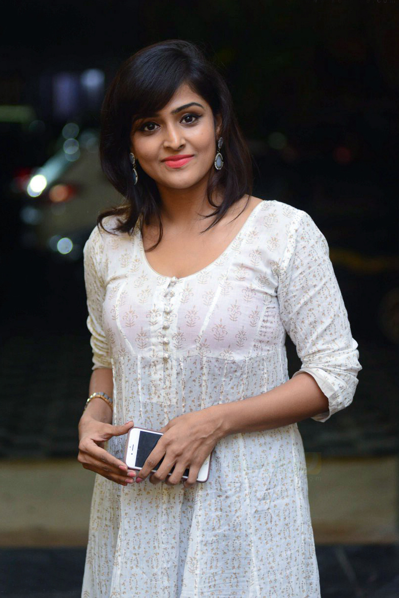 Actress Remya Nambeesan Photoshoot In White Floral Dress