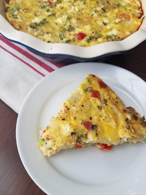 This frittata is great for lower-carb diets