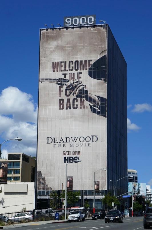 Giant Deadwood Movie billboard