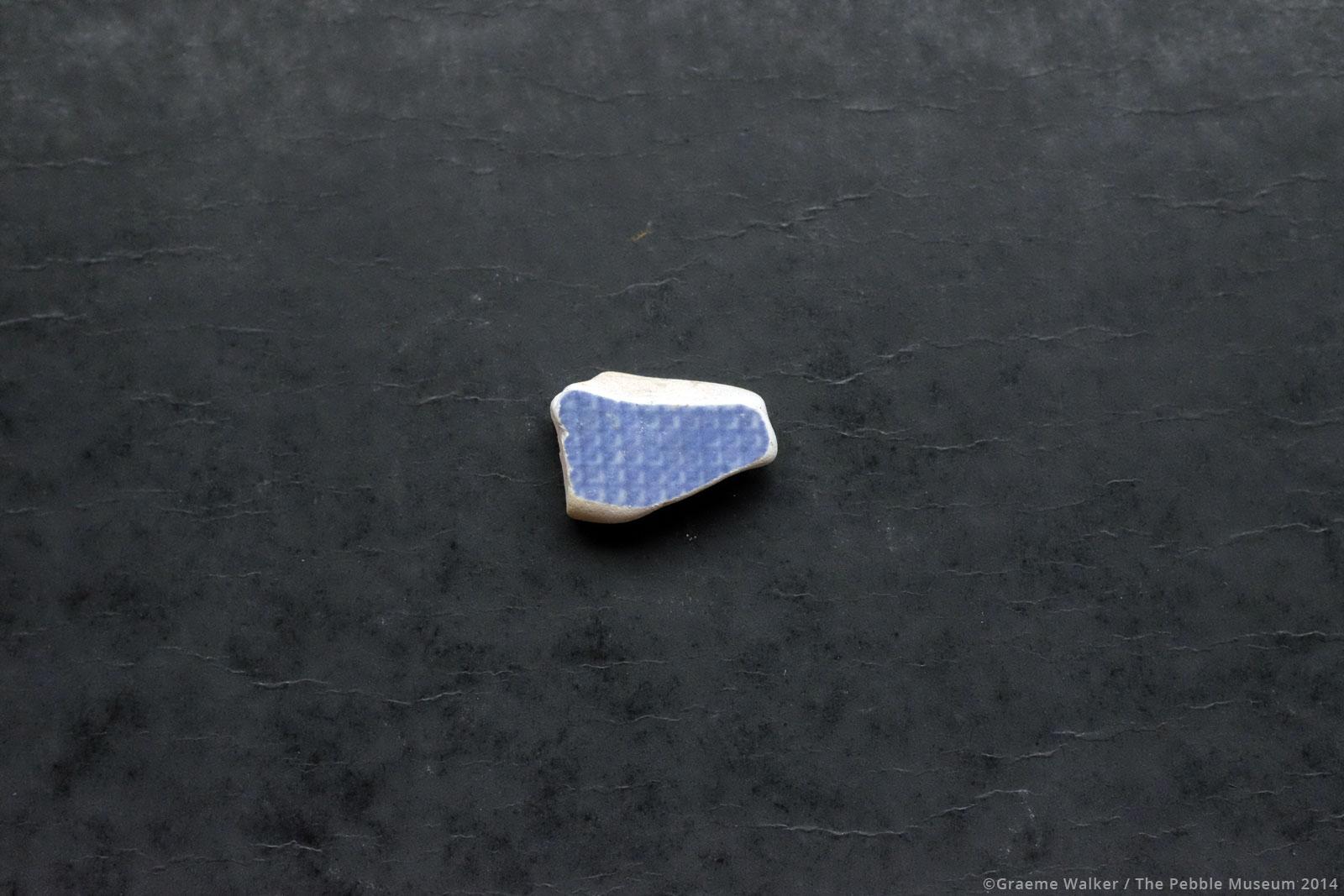 Blue Ceramic © Graeme Walker / The Pebble Museum 2019