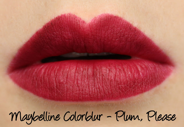 Maybelline Colorblur - Plum, Please Swatches & Review