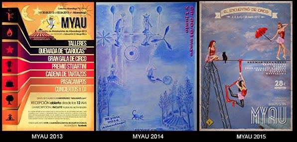 Foto de los carteles ganadores de el concurso MYAU