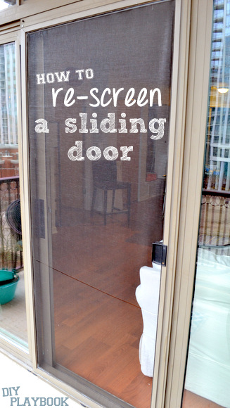 how to re-screen a sliding door