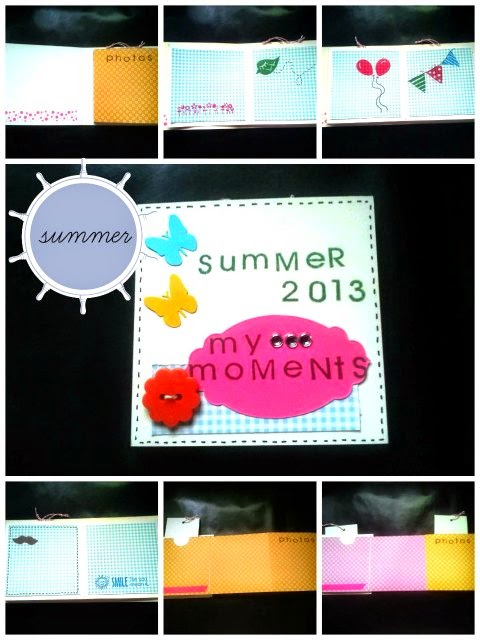 álbum mini scrapbooking verano summer