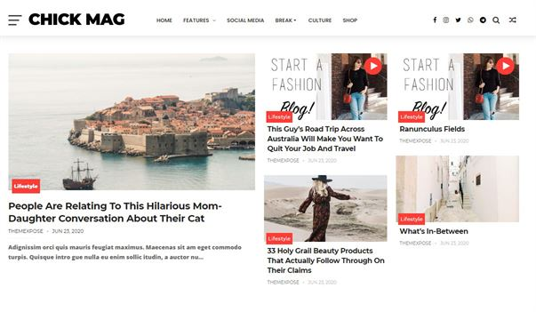 ChickMag Simple Blogger Template