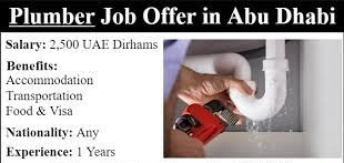 Plumber With Driving License Recruitment In Reputed Construction Company Based In Abu Dhabi