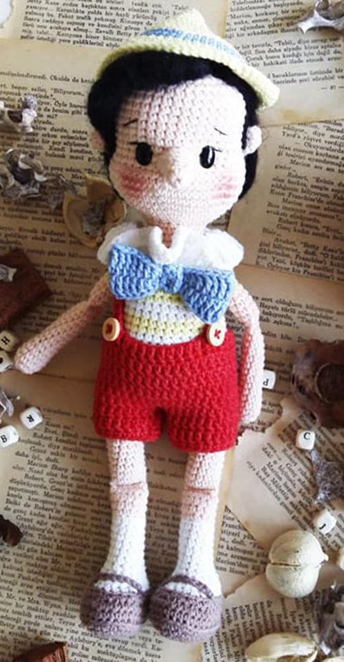 Pinocchio Amigurumi Doll - Free Crochet Pattern
