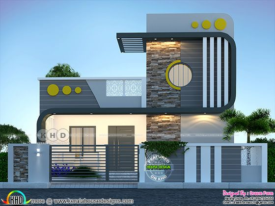 Ultra modern small budget single floor house rendering