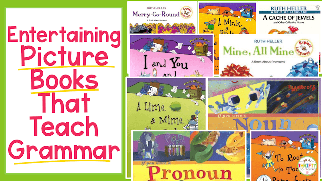 Here is a list of 40 picture books that teach grammar skills. Use these to introduce grammar lessons and engage your upper elementary students.