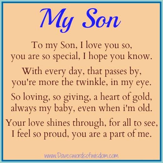 Daveswordsofwisdom.com: A Poem To My Son