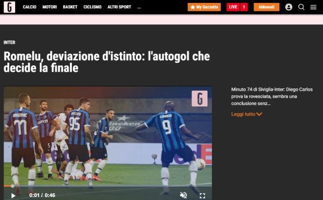 """Sevilla hạ Inter, vô địch Europa League: Báo Italia chỉ mặt """"tội đồ"""" Lukaku 5"""