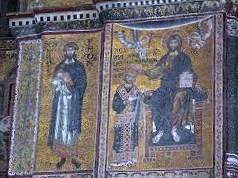 Monreale Cathedral Mosaics including images of Jesus Christ, Mother Marry and William II