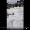 White Foams Seen On The Road Of Lagos, Residents Calls Out Lagos State Environmental Services. VIDEO