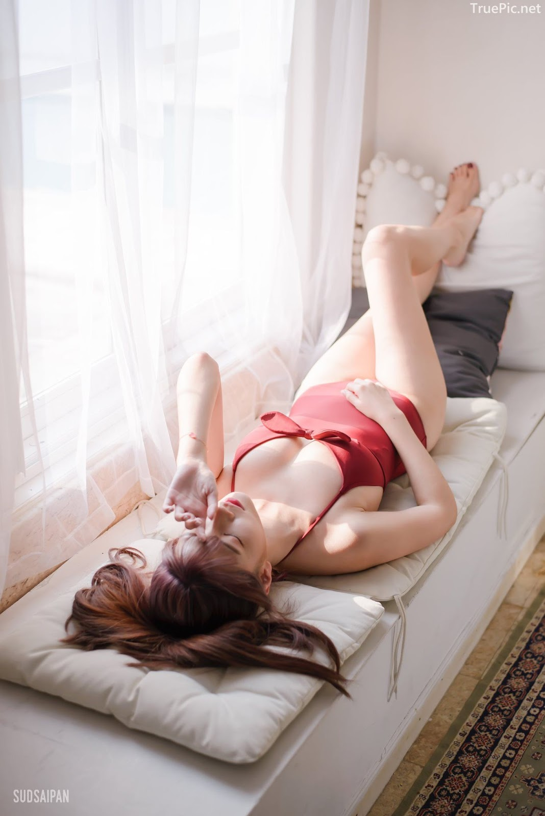 Chinese hot streaming girl - 簡欣汝 - Red Swimming Suit - TruePic.net - Picture 8