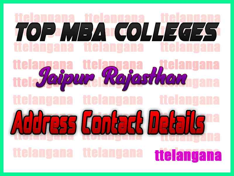 Top MBA Colleges in Jaipur Rajasthan