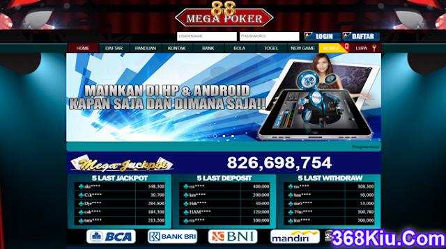 Megapoker88 Situs Game Judi Poker,AduQ Dan BandarQ Online Uang Asli Indonesia Terpercaya