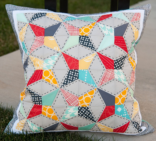 Talk Swap Round 9 Pillow  designed by Brooke of Pitter Putter Stitch