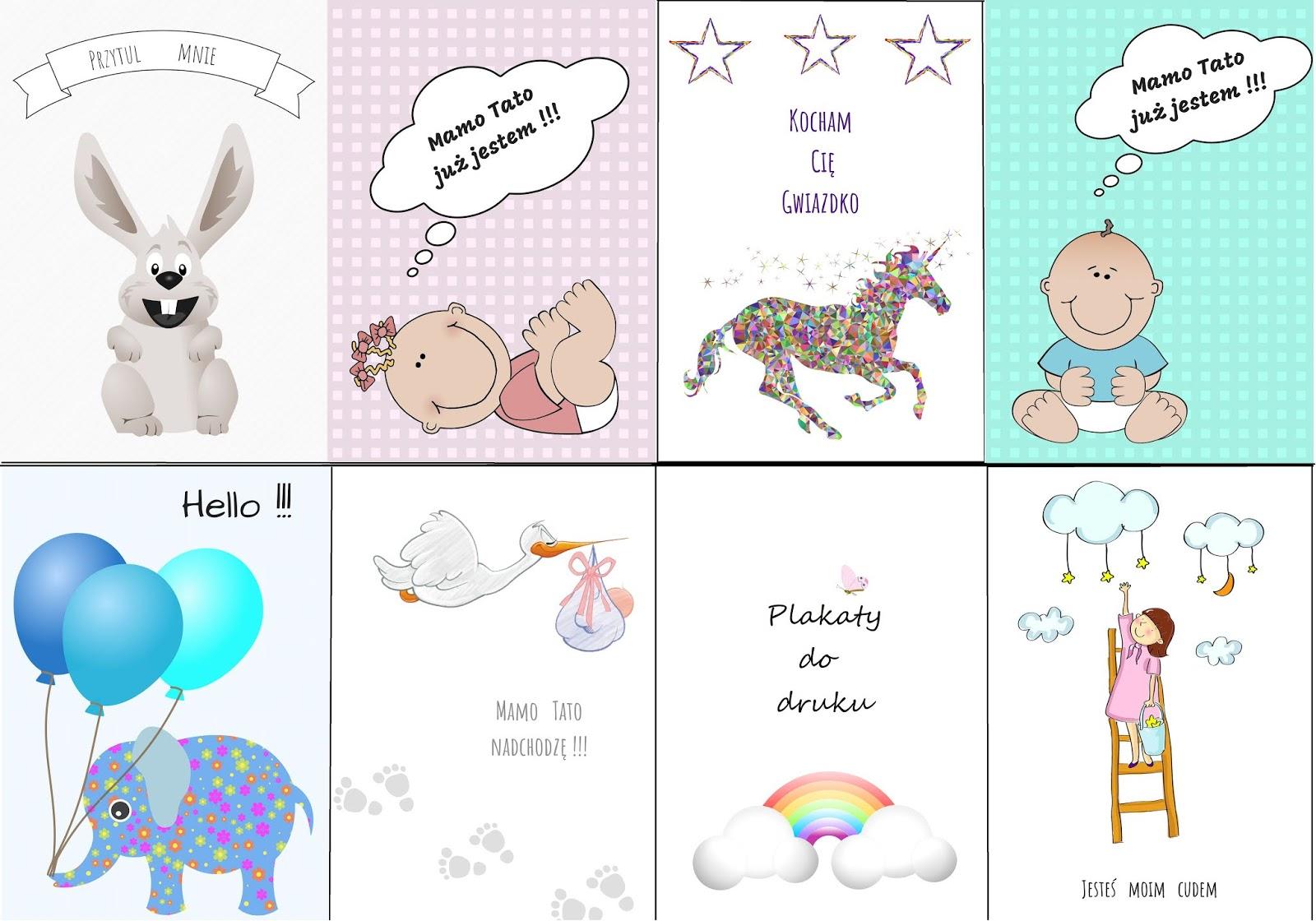 Kolorowe Plakaty Dla Najmłodszych Do Druku Moje Idealia